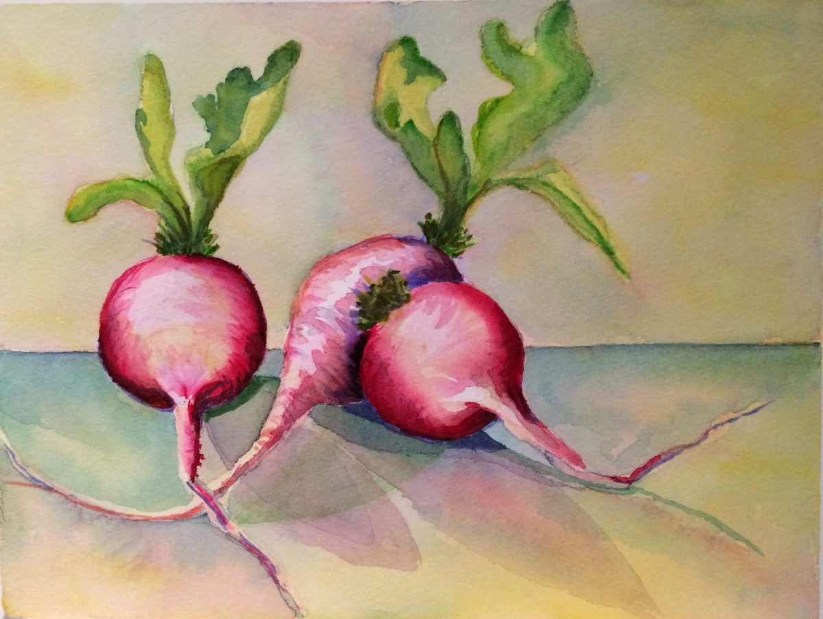 Radishes 3 copyright Peggy Willett