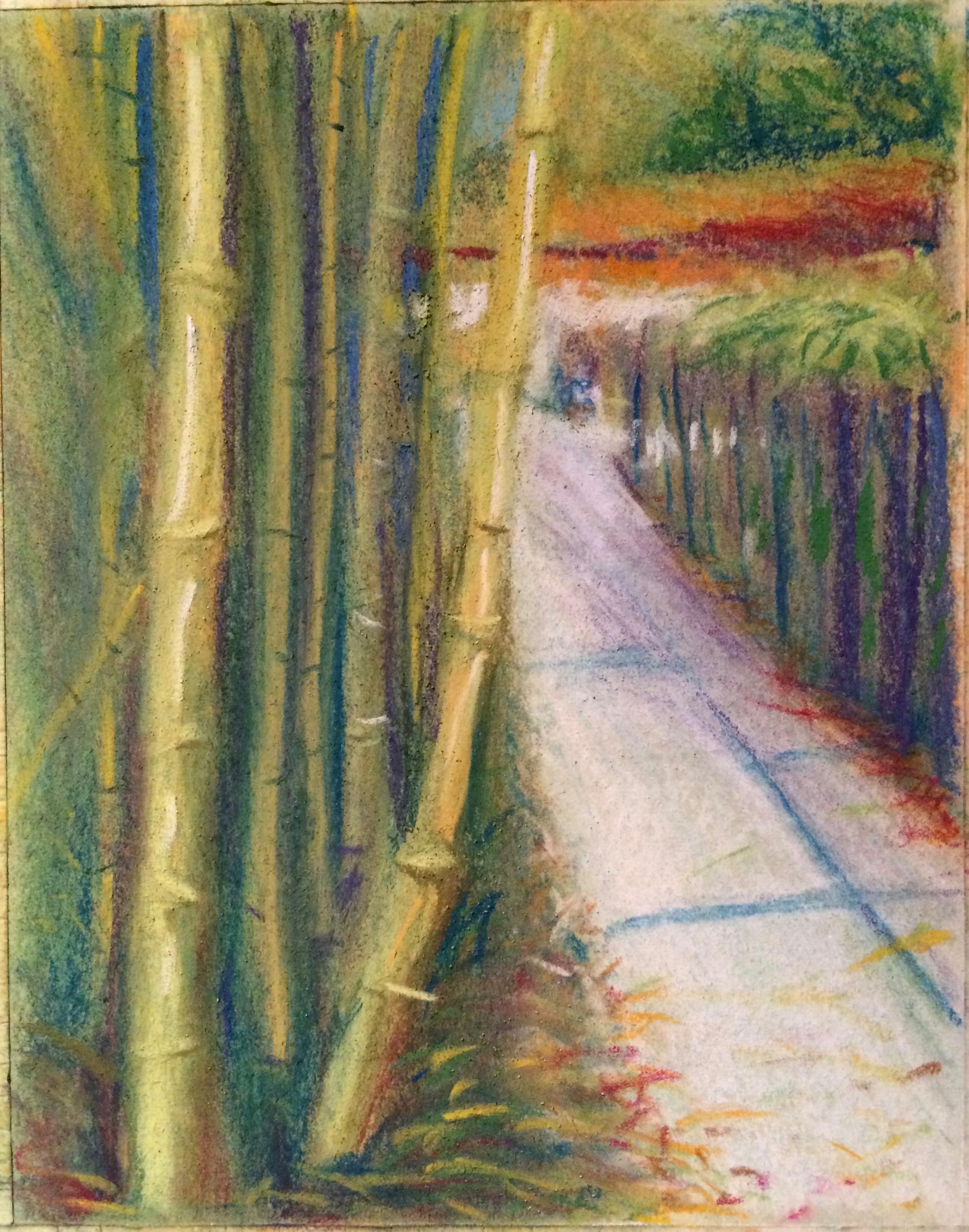 Bamboo walk pastel