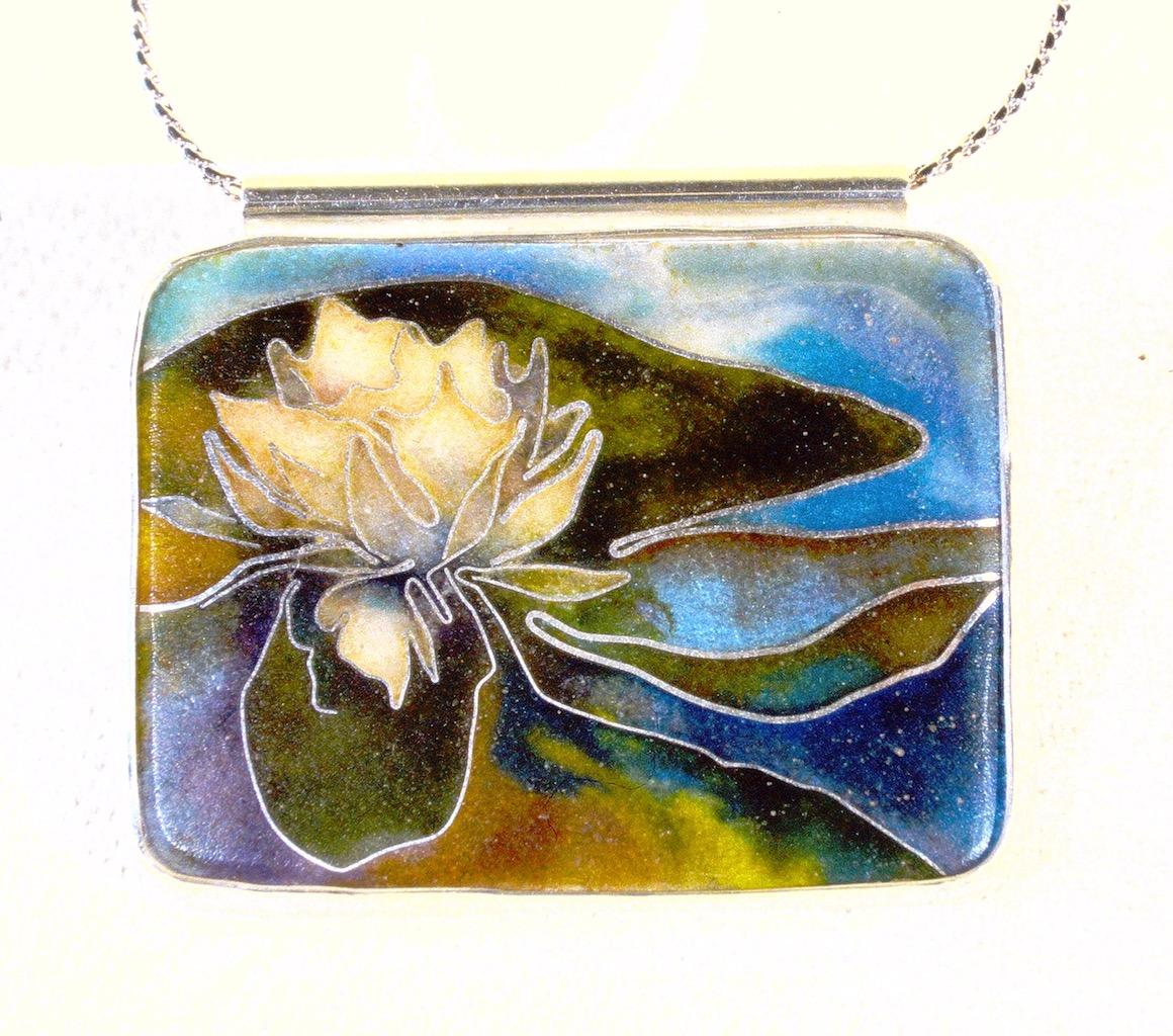 Waterlily pendant